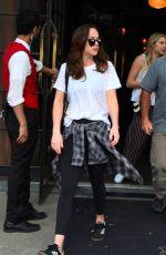 DAKOTA JOHNSON Leaves Her Hotel in New York 04/29/2017