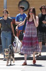 DAKOTA JOHNSON Walks Her Dog Out in Santa Monica 04/21/2017