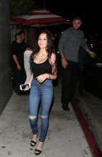 DANIELLE BREGOLI Arrives at Nobu Restaurant in Los Angeles 04/20/2017