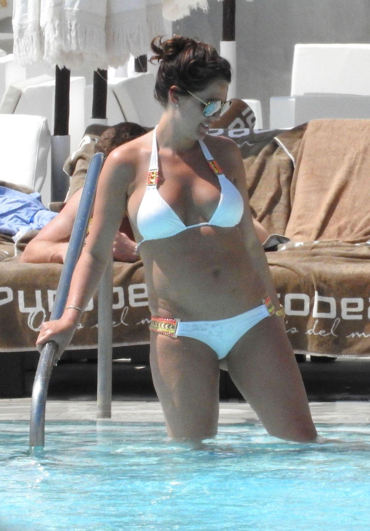 DANIELLE LLOYD in Bikini at a Pool in Marbella 04/17/2017