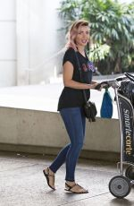 DANNII MINOGUE at LAX Airport in Los Angeles 04/04/2017