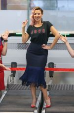 DANNII MINOGUE at Media Call for Virgin Australia at Airport in Melbourne 04/04/2017