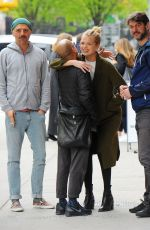DAPHNE GROENEVELD Out and About in New York 04/24/2017