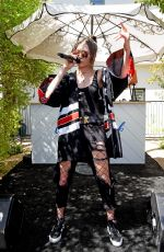 DAYA Performs at Popsugar Cabana Club Pool Party in Palm Springs 04/15/2017