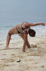 DAYANE MELLO in Bikini on the Set of a Photoshoot for Isola Dei Famosi 2017