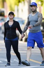 DEMI LOVATO and Guilherme Vasconcelos Out Hiking in Runyon Canyon Park 04/09/2017