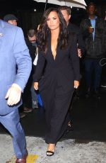 DEMI LOVATO Leaves Time 100 Gala 2017 in New York 04/25/2017
