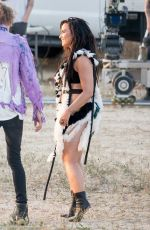 DEMI LOVATO on the Set of No Promises Music Video in Los Angeles 04/12/2017