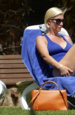 DENISE VAN OUTEN in Swimsuit on Vacation in Marbella 04/14/2017
