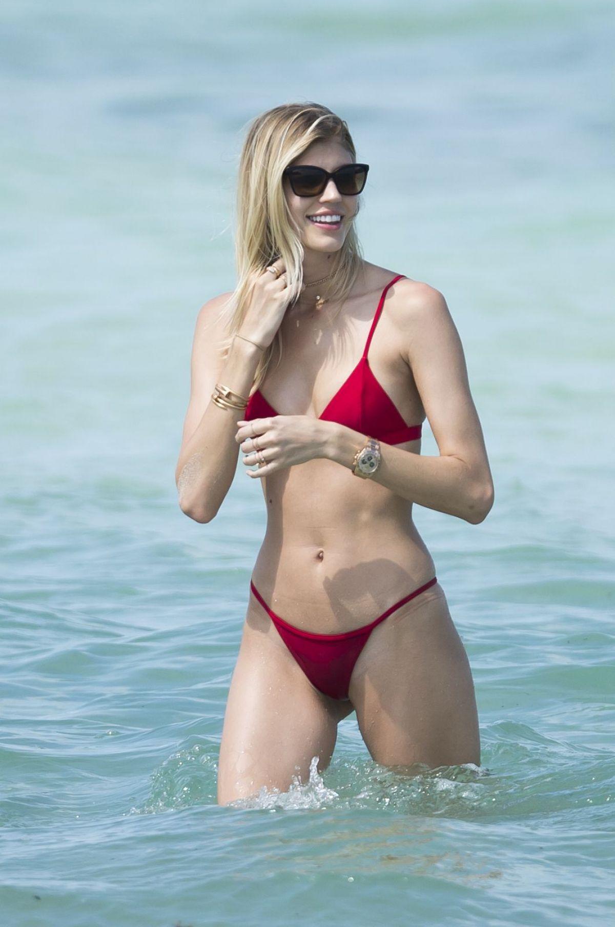 DEVON WINDSOR in Bikini at a Beach in Miami 04/28/2017