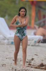 DIANE GUERRERO in Swimsuit at a Beach in Miami 04/07/2017