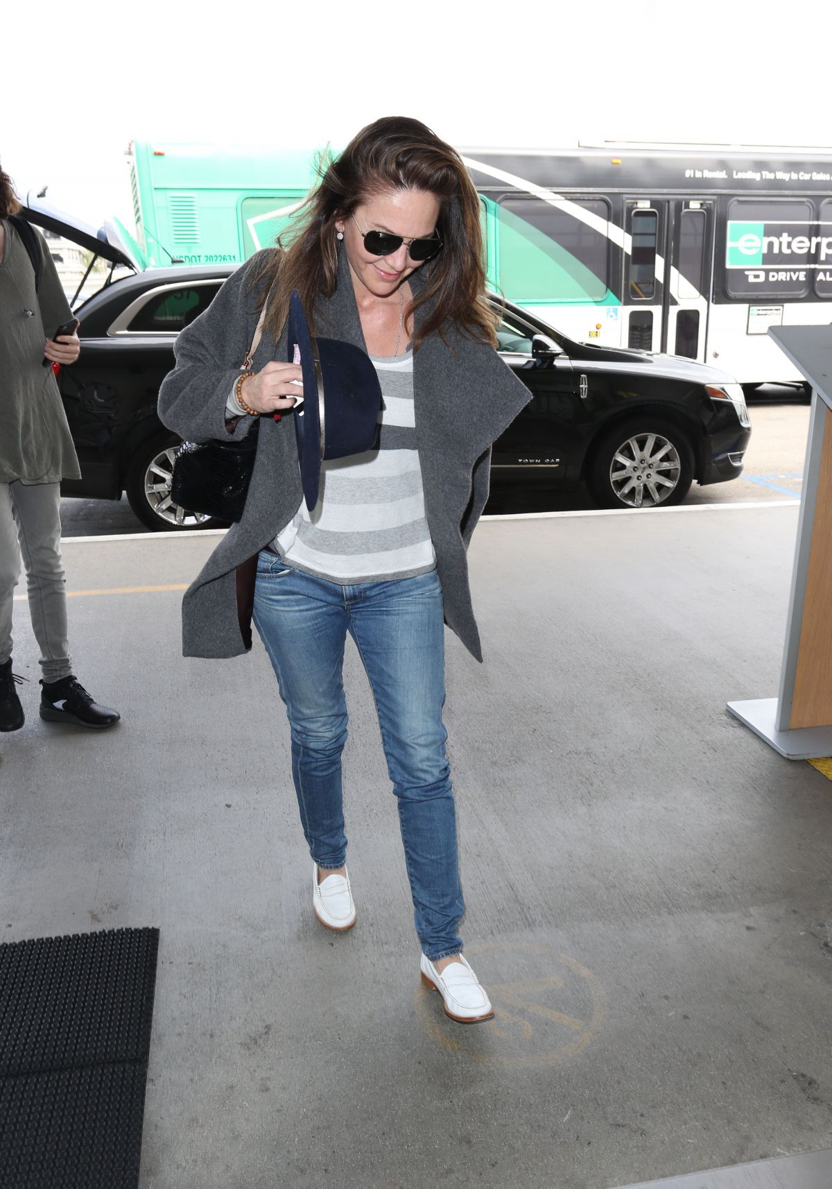 DIANE LANE at Los Angeles International Airport 04/17/2017
