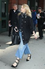 DIANNA AGRON Leaves Her Hotel in New York 04/20/2017