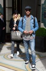 DOUTZEN KROES and Her Husband Sunnery James Leaves Meurice Hotel in Paris 04/01/2017