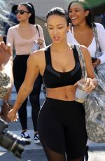 DRAYA MICHELE in Tights Leaves Yoga Class in Beverly Hills 03/31/2017