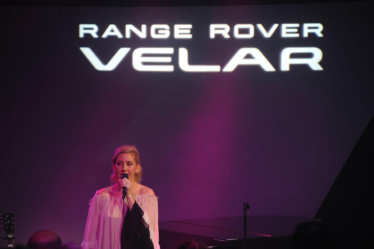 ellie goulding at range rover velar premiere in new york. Black Bedroom Furniture Sets. Home Design Ideas