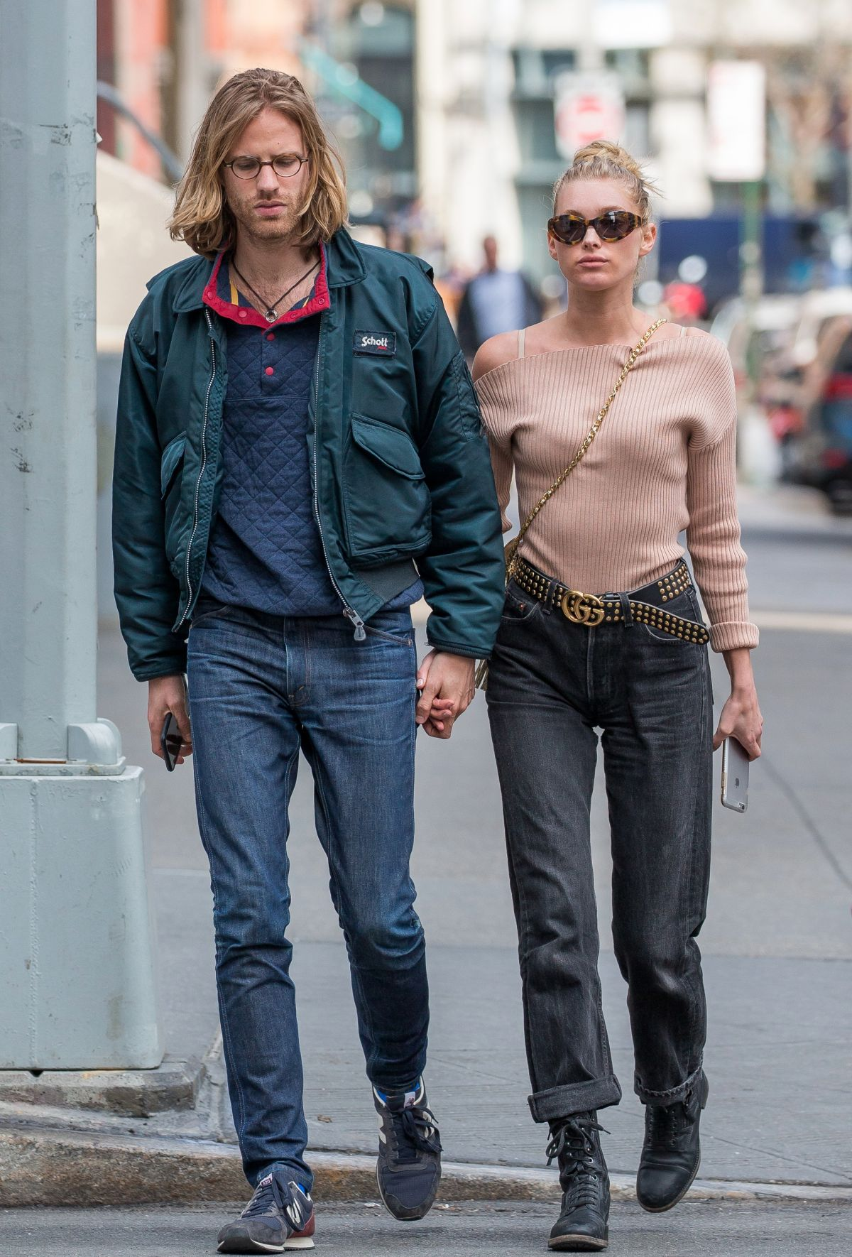 ELSA HOSK and Tom Daly Out and About in New York 04/20