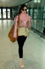 EMILIA CLARKE at Heathrow Airport in London 04/14/2017