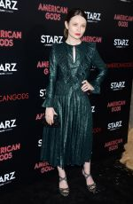 EMILY BROWNING at American Gods Premiere in Los Angeles 04/20/2017