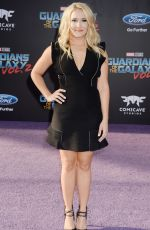 EMILY OSMENT at Guardians of the Galaxy Vol. 2 Premiere in Hollywood 04/19/2017