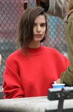 EMILY RATAJKOWSKI at DKNY Commercial in New York 04/26/2017