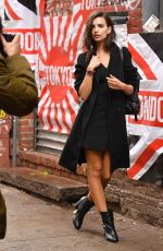 EMILY RATAJKOWSKI on the Set of a DKNY Commercial in New York 04/26/2017