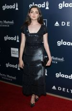 EMILY ROBINSON at 2017 Glaad Media Awards in Los Angeles 04/01/2017