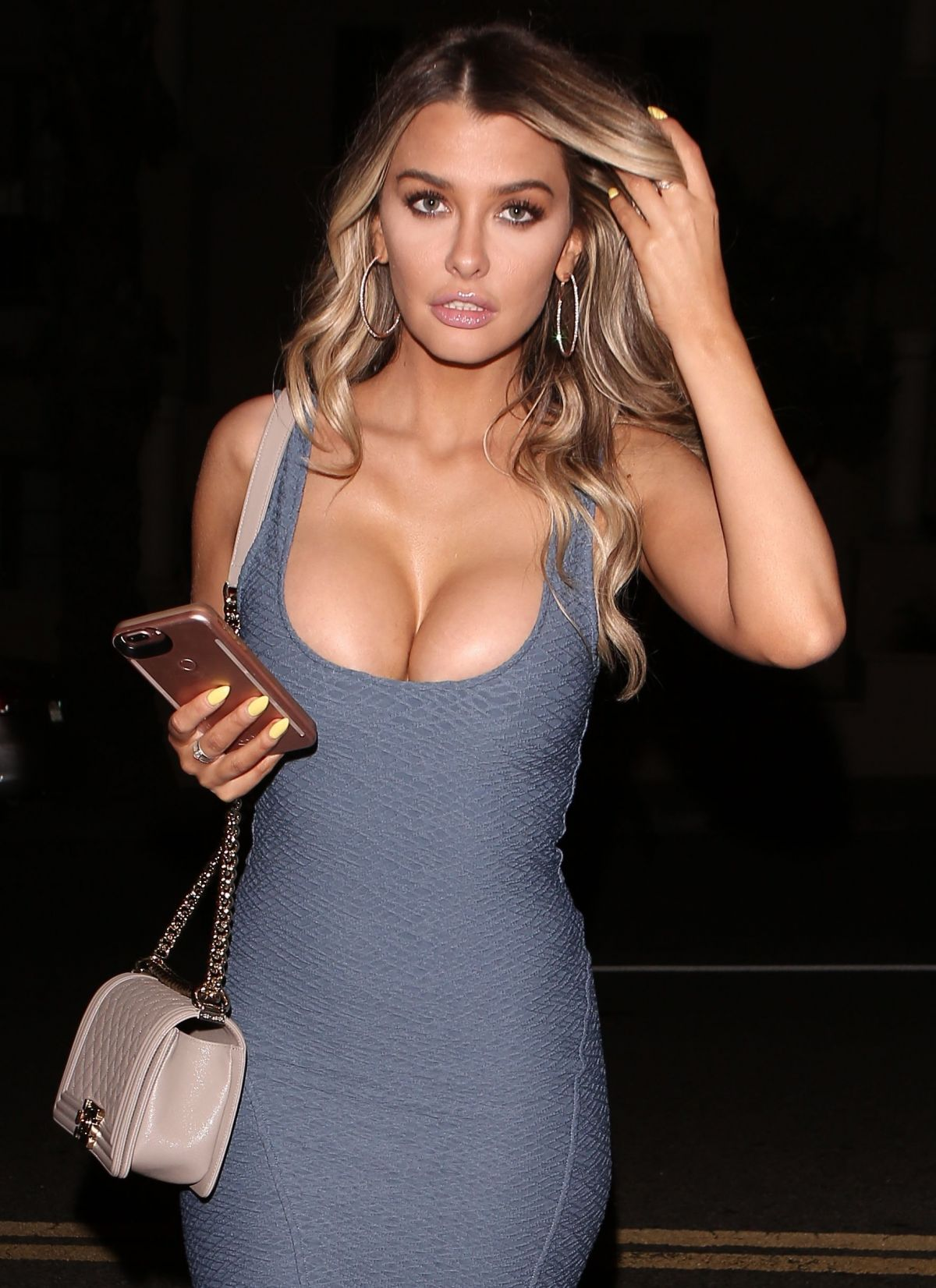 EMILY SEARS Night Out in West Hollywood 04/05/2017