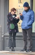 EMMA ROBERTS and Evan Peters Out and About in New York 04/04/2017