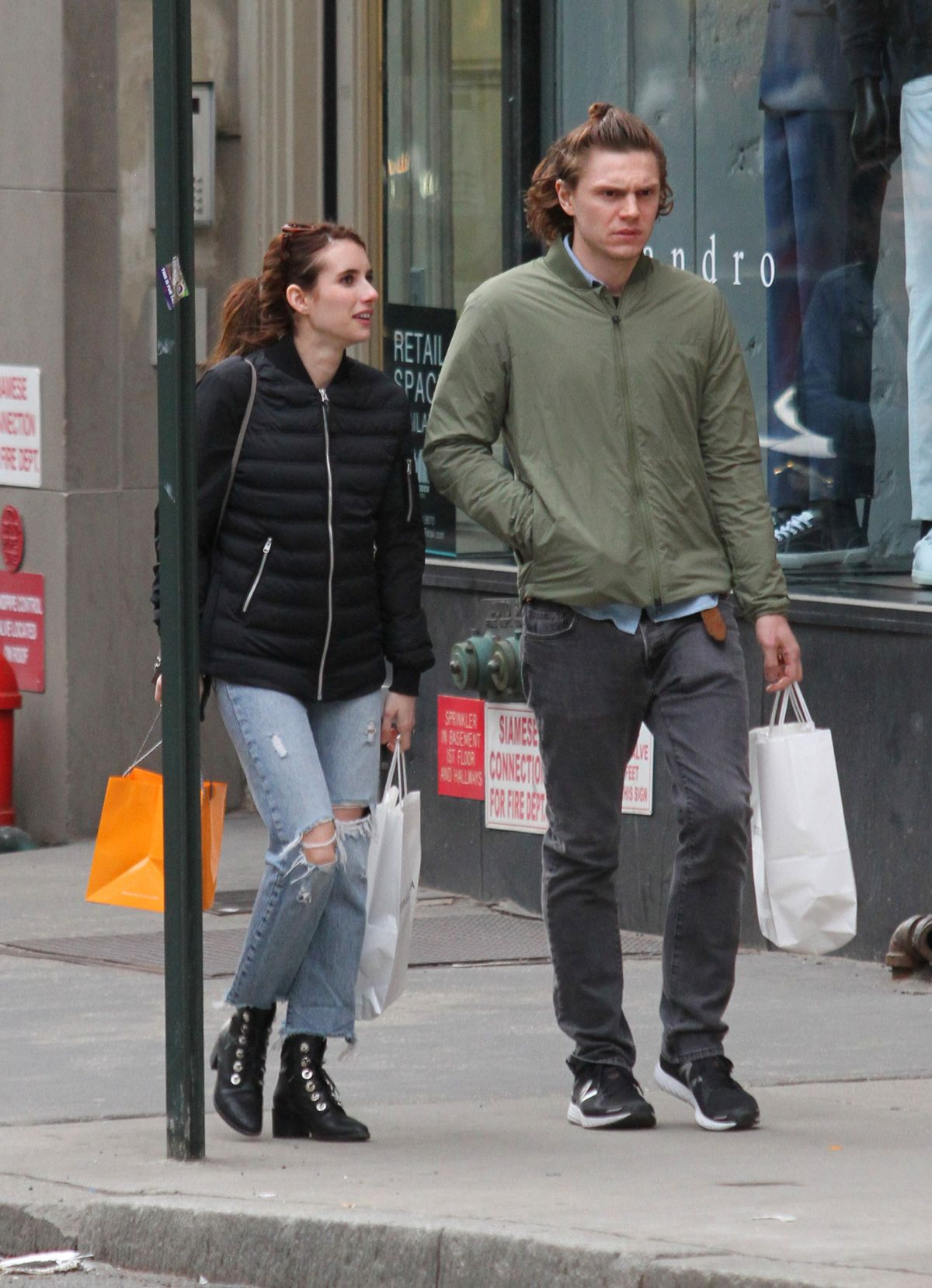 EMMA ROBERTS and Evan Peters Out in New York 04/23/2017