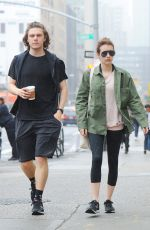 EMMA ROBERTS and Evan Peters Out in New York 04/26/2017