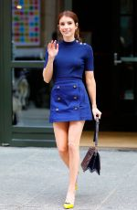EMMA ROBERTS in Short Skirt Out in New York 04/20/2017
