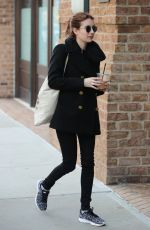 EMMA ROBERTS Out and About in New York 04/02/2017