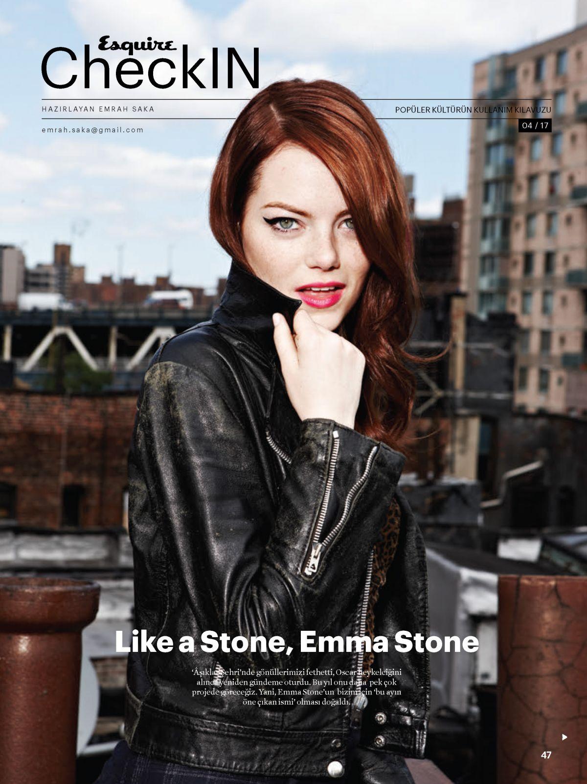 EMMA STONE in Esquire Magazine, Turkey April 2017
