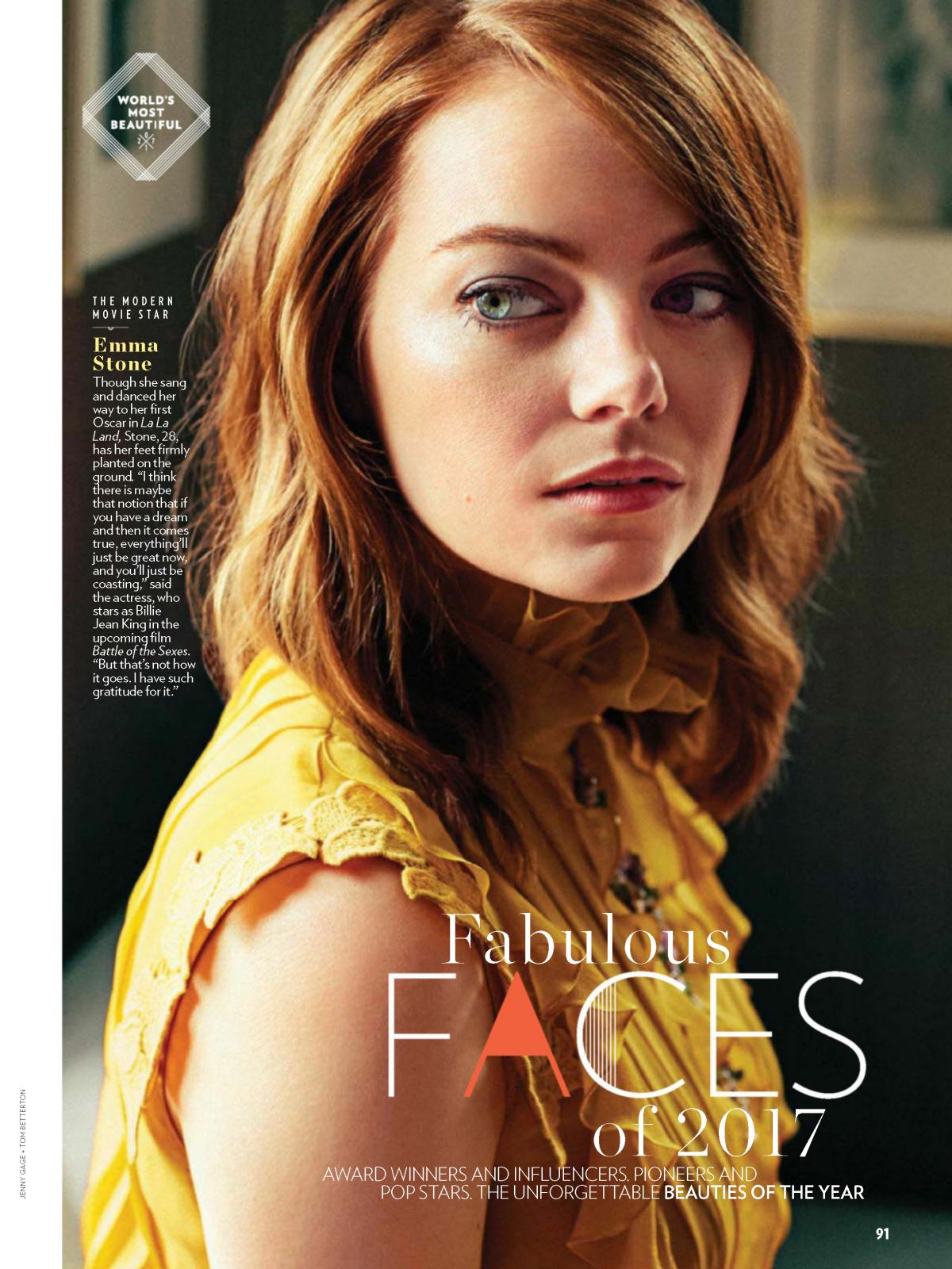 EMMA STONE in People Magazine, May 2017