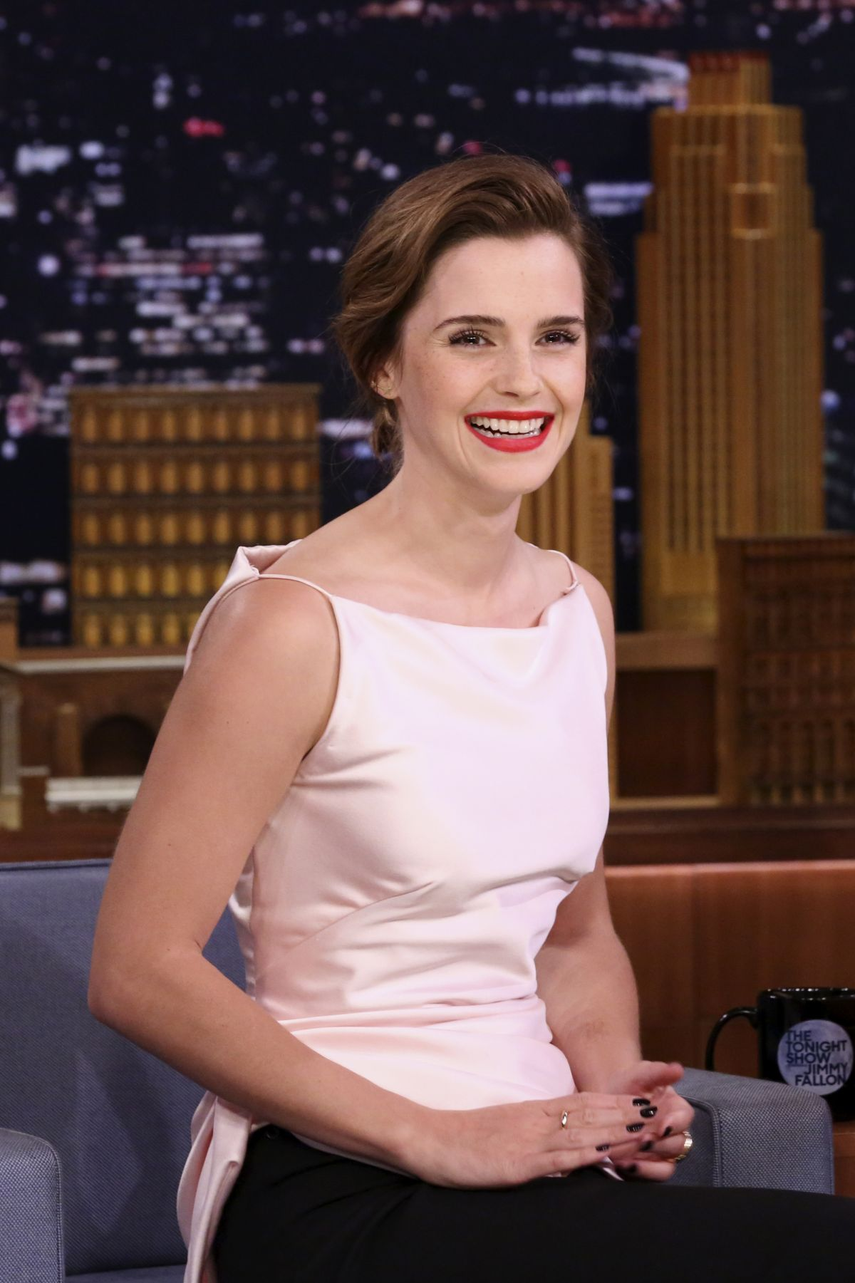 EMMA WATSON at Jimmy Fallon Show 04/27/2017