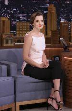 EMMA WATSON at Jimmy Fallon Show 04/27/2017