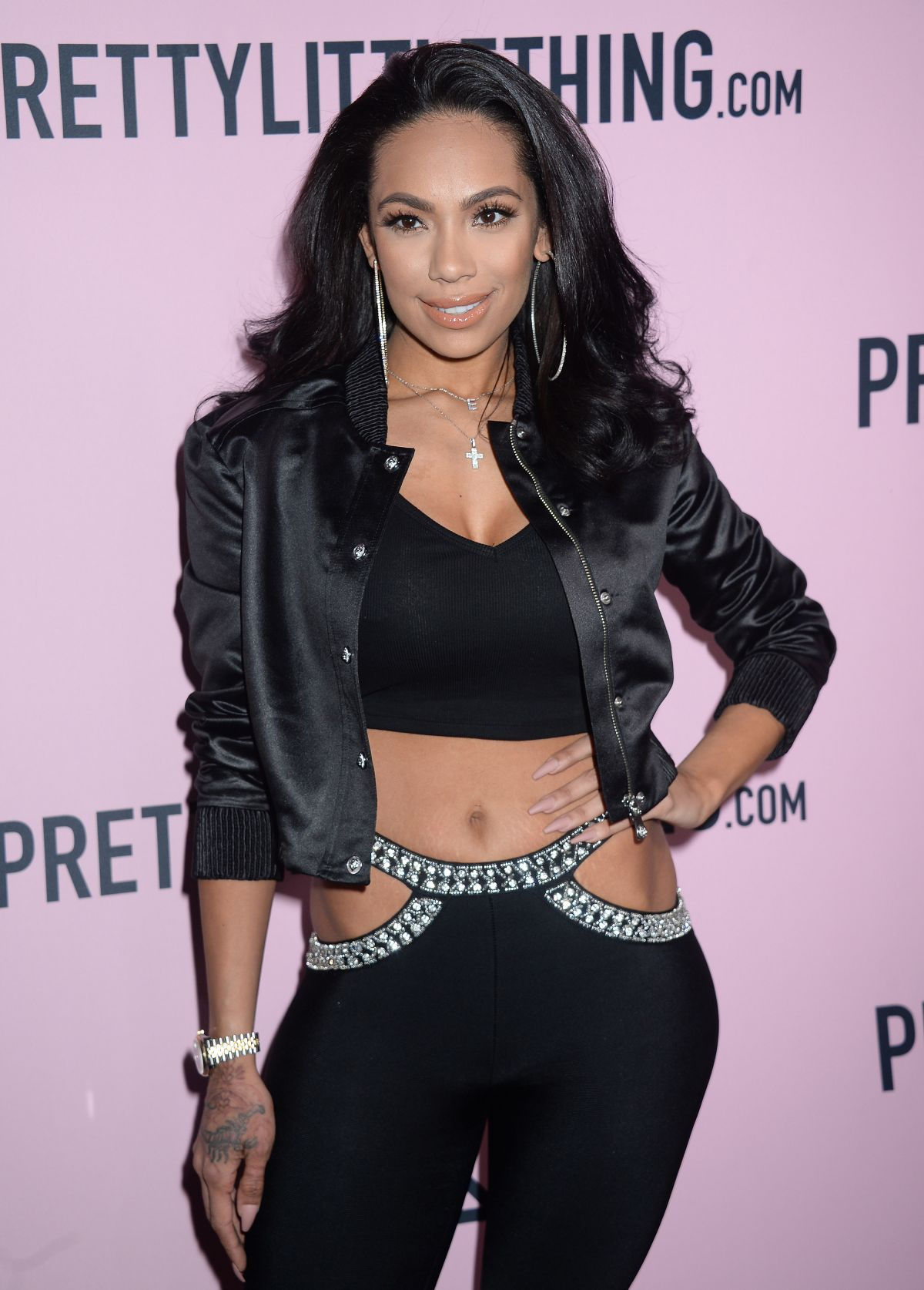 ERICA MENA at Pretty Little Thing Shape x Stassie Launch Party in Hollywood 04/11/2017