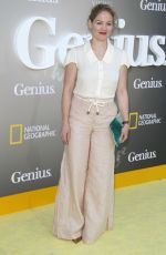 ERIKA CHRISTENSEN at National Geographic's Genius Premiere in Los Angeles 04/24/2017