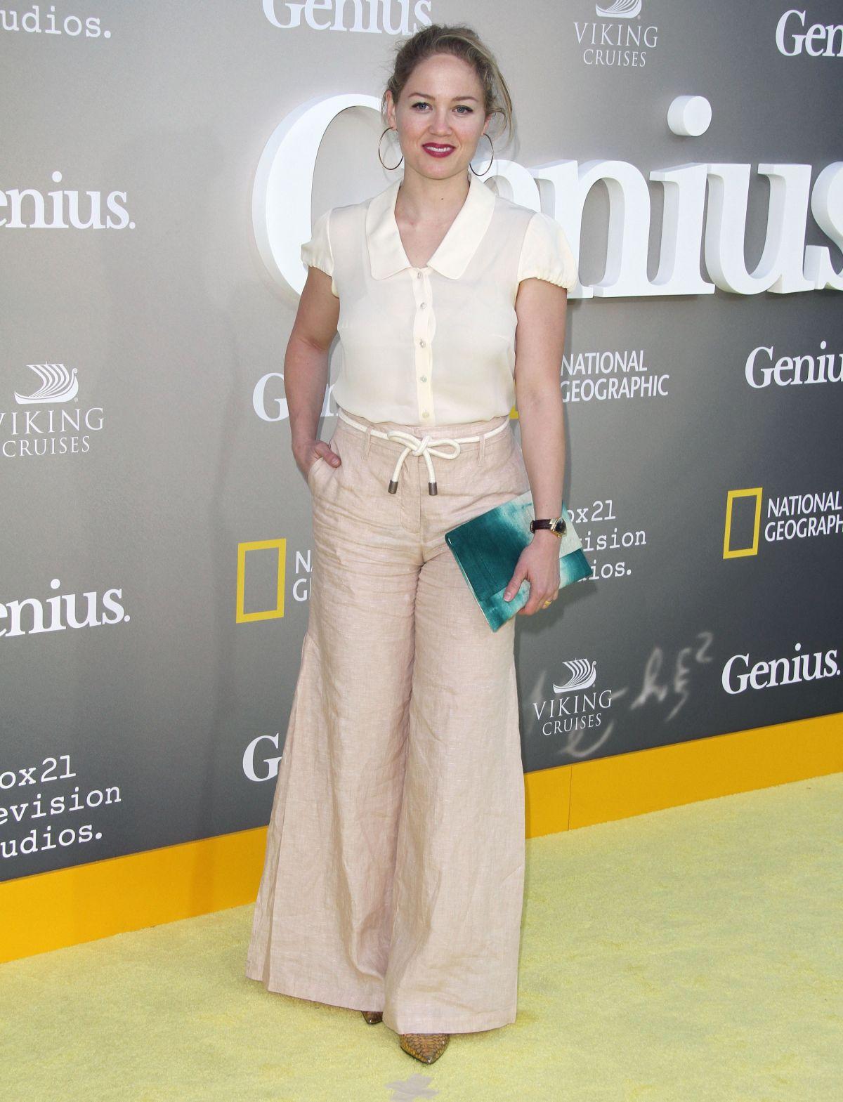 ERIKA CHRISTENSEN at National Geographic's Genius Premiere ...
