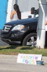 ERIKA JORDAN Shooting a Easter Bunny Skit in Los Angeles 04/11/2017