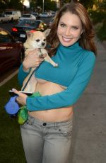 ERIKA JORDAN Walks Her Dog Out in Hollywood 04/02/2017