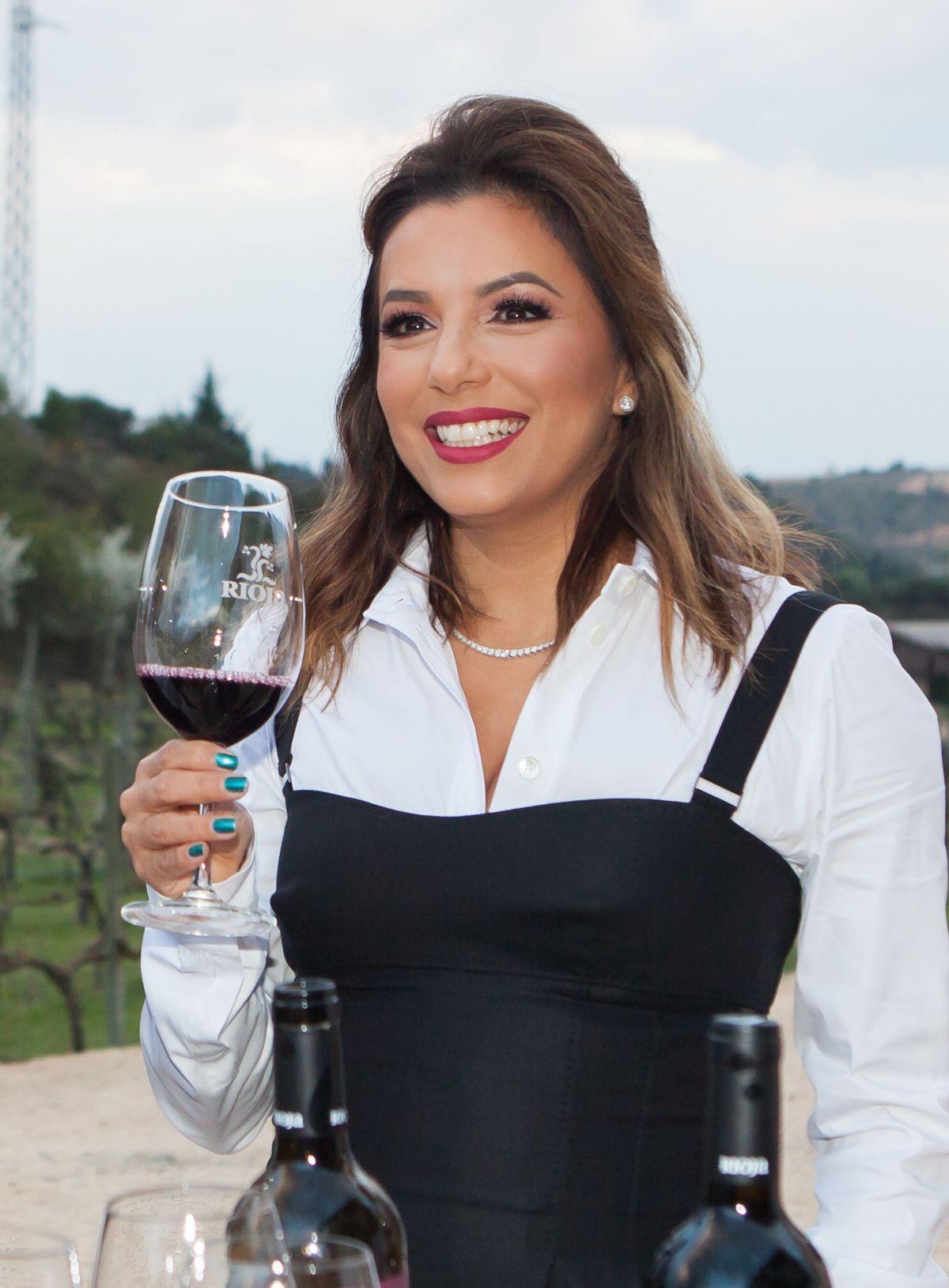 EVA LONGORIA at Marques De Rsical Cellar in Elciego 04/05/2017