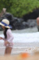EVA LONGORIA in Bikini on the Beach in Miami 04/20/2017