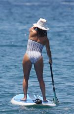 EVA LONGORIA in Swimsuit at a Beach in Maui 04/19/2017