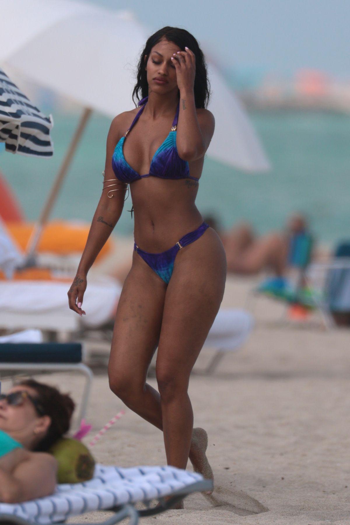 FANNY NEGUESHA in Bikini on the Beach in Miami 04/05/2017 - HawtCelebs