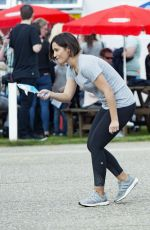 FRANKIE BRIDGE at a Charity Football Match in Bexleyheath 04/02/2017