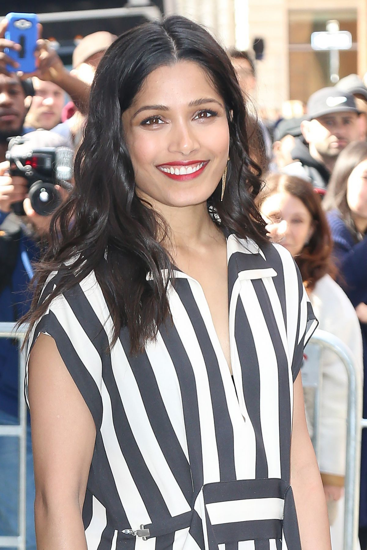 FREIDA PINTO Arrives at AOL Build Speaker Series in New ... Freida Pinto