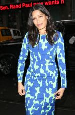FREIDA PINTO Arrives at SiriusXM Studios in New York 04/04/2017