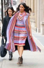 FREIDA PINTO Leaves ABC Studios in New York 04/04/2017